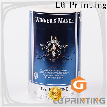 LG Printing hologram special labels for bottles manufacturer for cans