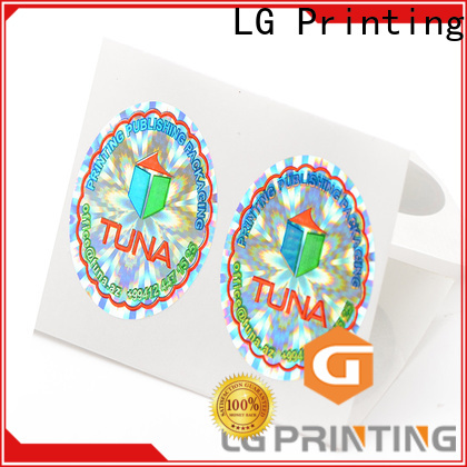LG Printing round quality sticker logo for table