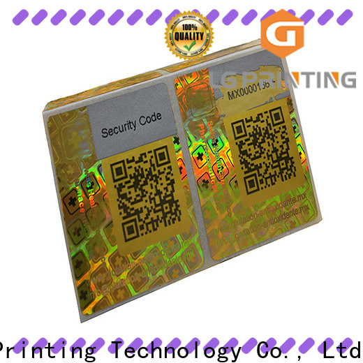 LG Printing scratch off hologram sticker printing supplier for table