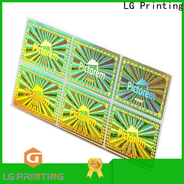 LG Printing silver custom hologram sticker printing series for refrigerator