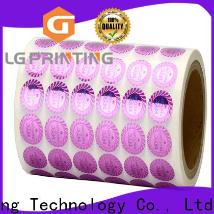 LG Printing selfadhesive sticker hologram label for refrigerator