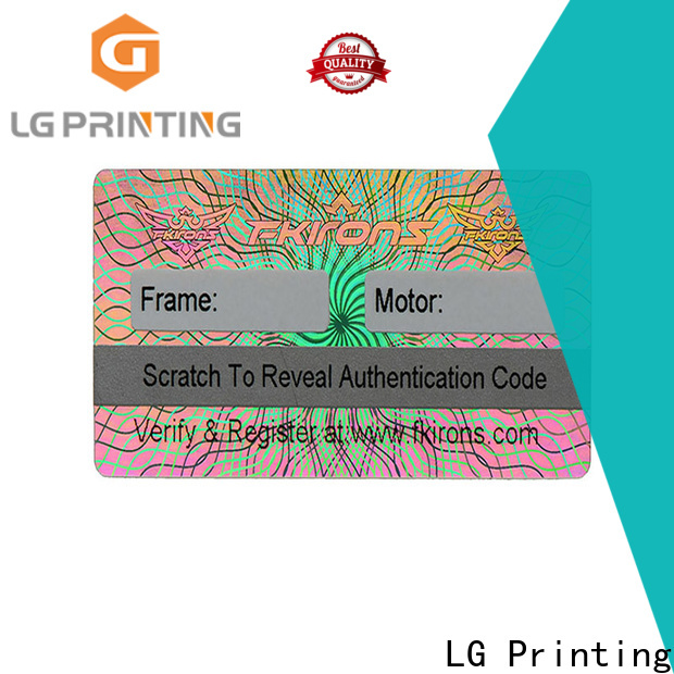 scratched printing holographic stickers colorful label for door