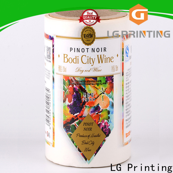 LG Printing silver best water bottle labels factory for wine bottle