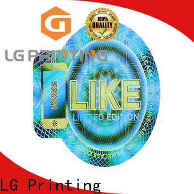 LG Printing holographic 3d hologram sticker logo for box