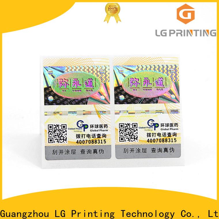 LG Printing foil label printing manufacturers for bag