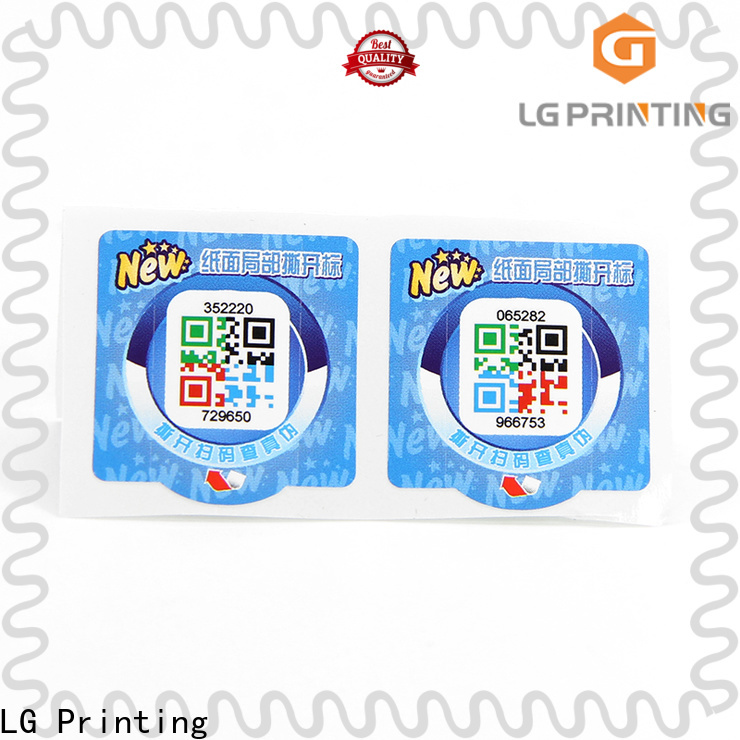 LG Printing Latest security labels stickers factory for products