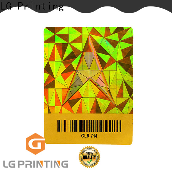LG Printing various license hologram stickers series for door