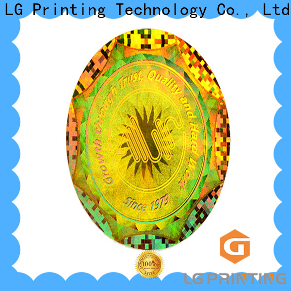 LG Printing round numbered hologram stickers series for table