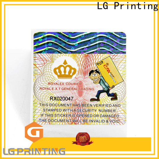 LG Printing custom product label printing for business for bag