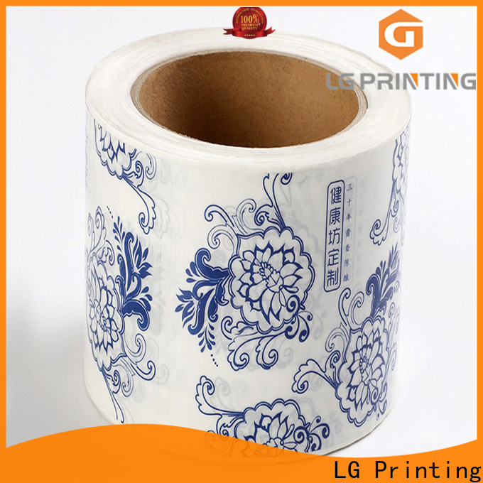 LG Printing red wedding bottle labels personalized factory for jars
