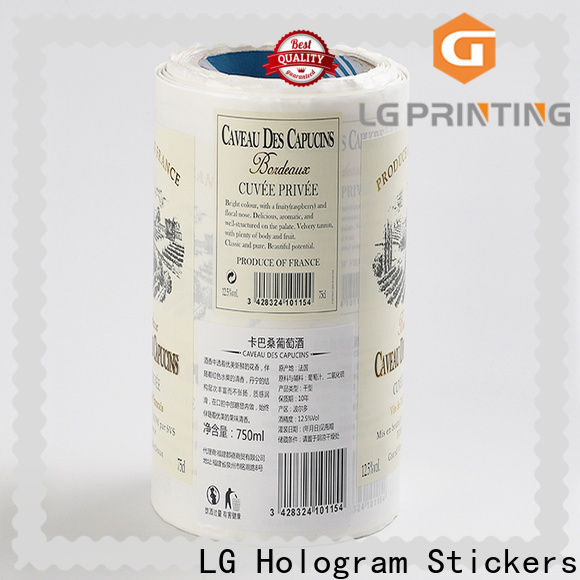 LG Printing bopp stickers for plastic water bottles supplier for jars