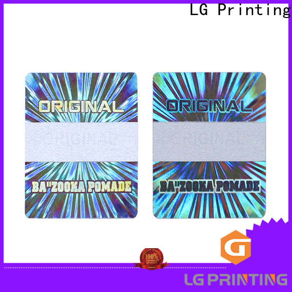 LG Printing barcode laser hologram sticker supplier for box