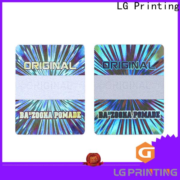 LG Printing barcode laser hologram sticker supplier for box
