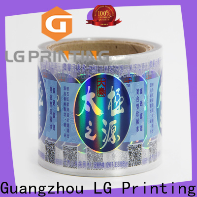 Custom holographic security stickers for business
