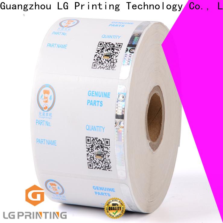stamping security labels randomly manufacturer for goods