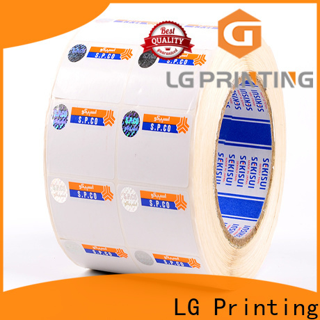 LG Printing fake small security stickers series for products