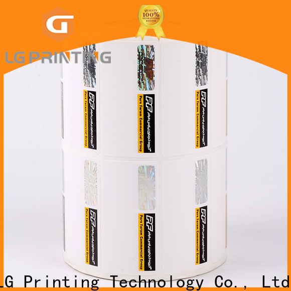LG Printing stamping hologram stickers uk supplier for bag