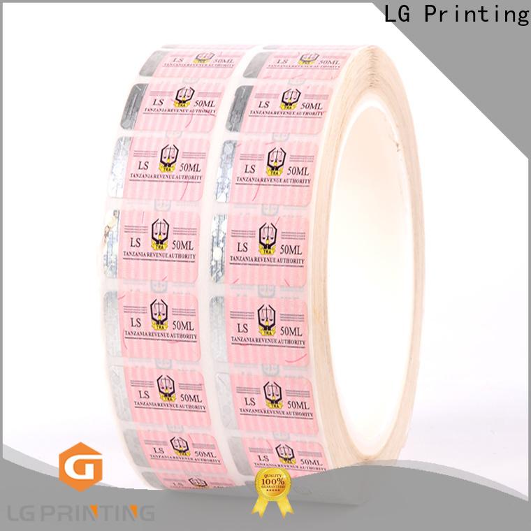 LG Printing standard hologram label manufacturers series for box