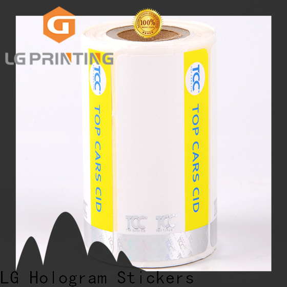 LG Printing PP security tamper stickers supplier for box