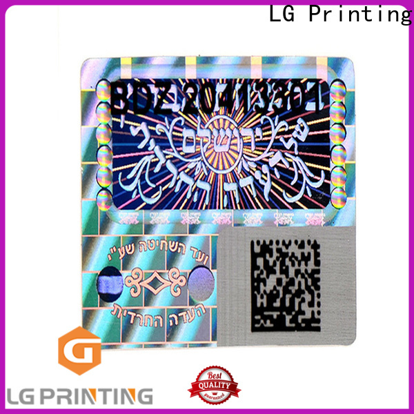 various holographic sticker maker one time logo for refrigerator