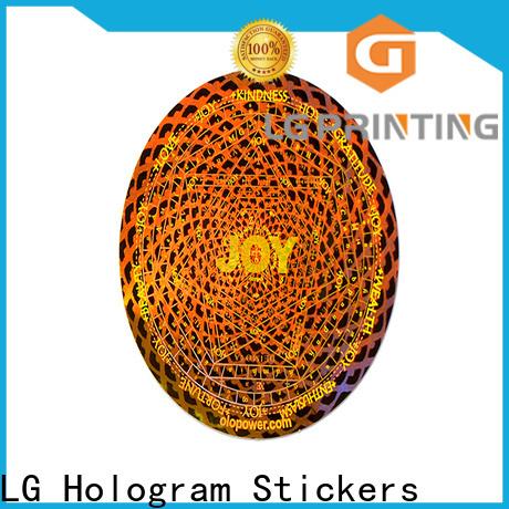 round round hologram stickers golden label for door