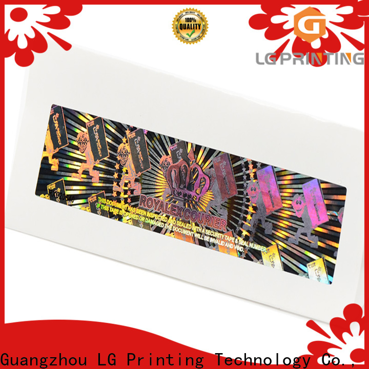 LG Printing numbering custom void stickers manufacturer for table