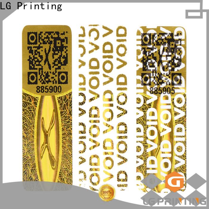 LG Printing various qr code sticker printing label for box