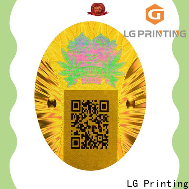 LG Printing gold hologram sticker printer supplier for refrigerator