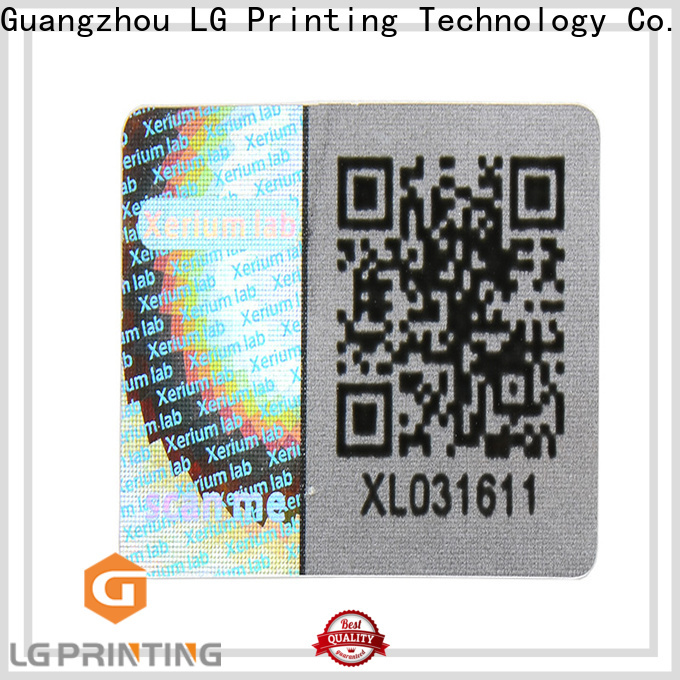 LG Printing gold silver hologram sticker label for table
