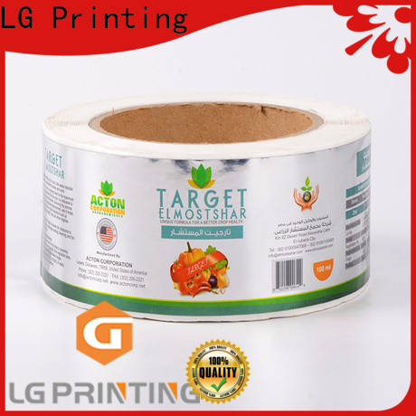LG Printing foil packaging industry manufacturer for cans