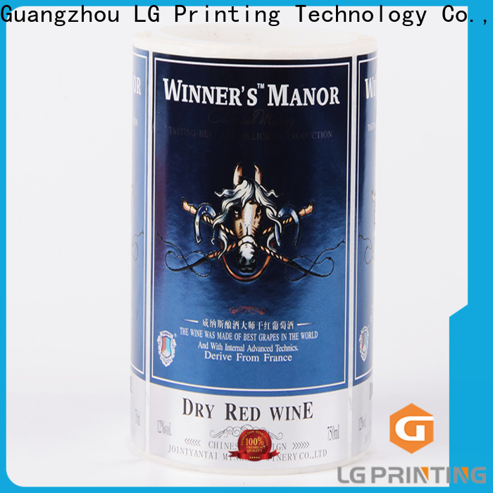 glossy decorative water bottle labels gold manufacturer for cans