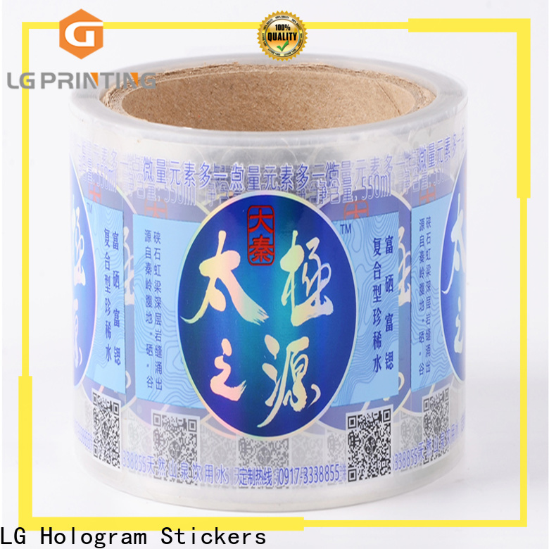 LG Printing waterproof adhesive labels for bottles manufacturer for wine bottle
