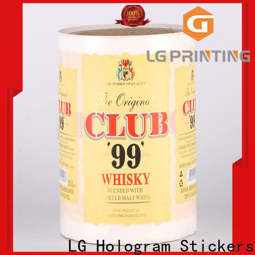 printing sticker factory bopp series for bottle