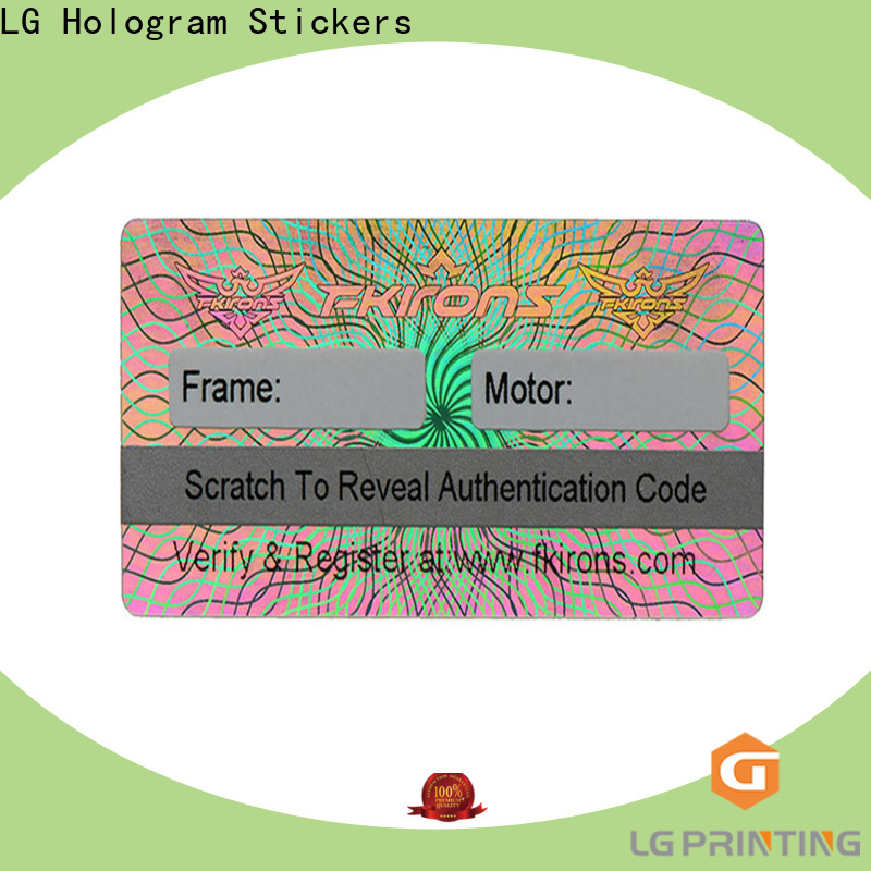 LG Printing scratched holographic vinyl stickers series for refrigerator