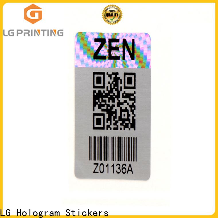 LG Printing retangle china hologram sticker series for door