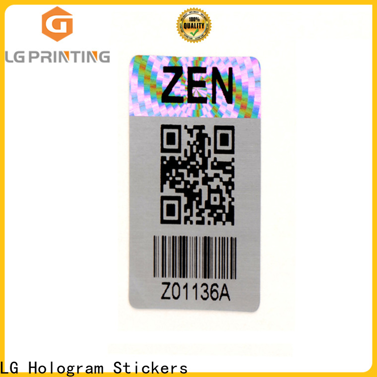 LG Printing retangle china hologram sticker series for door
