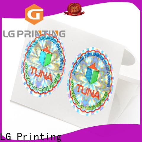 LG Printing golden custom qr stickers logo for door