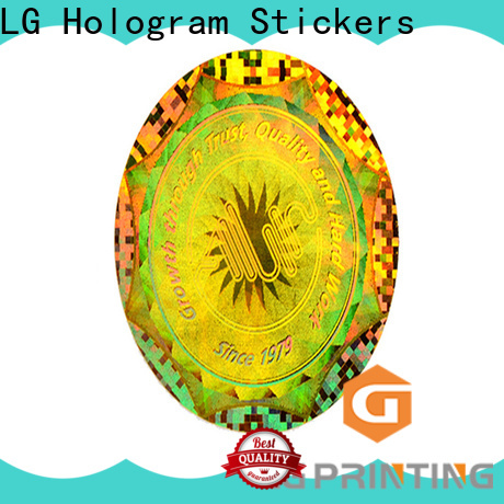 LG Printing various void hologram sticker supplier for box