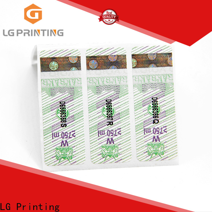 LG Printing custom security label Supply for products