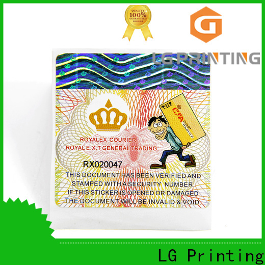 LG Printing Top custom product labels factory Supply for products