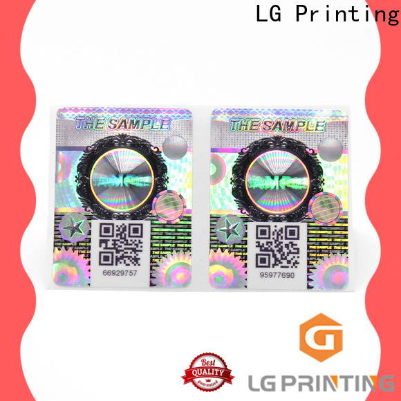 LG Printing Top residue security labels for business for goods