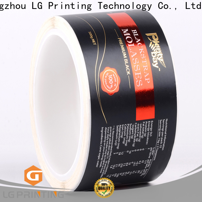 LG Printing printed best wine bottle labels factory for cans