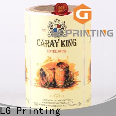 LG Printing metallic types of packaging supplier for jars