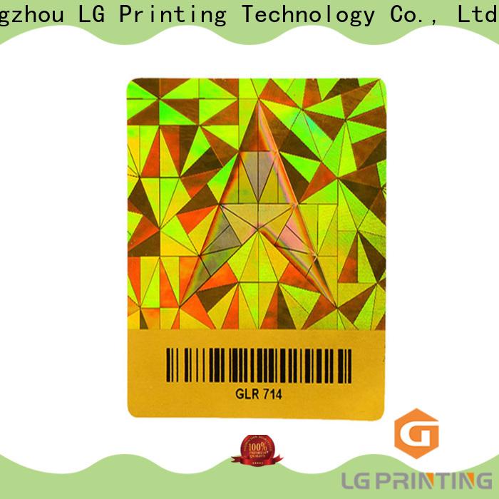 LG Printing various valid hologram sticker logo for door