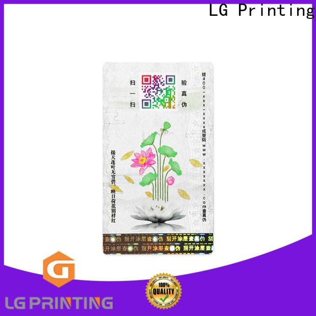 LG Printing Latest custom self adhesive label manufacturers factory for bag