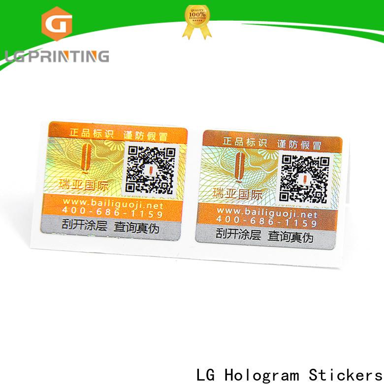 LG Printing Custom adhesive labels for plastic bottles factory for bag