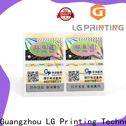 LG Printing printed self adhesive labels manufacturer company for box