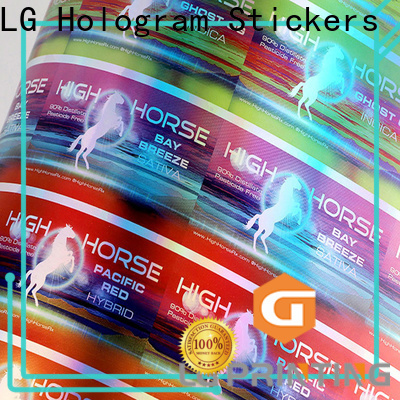 LG Printing holographic letter stickers Supply