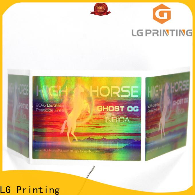 Latest custom holographic stickers company