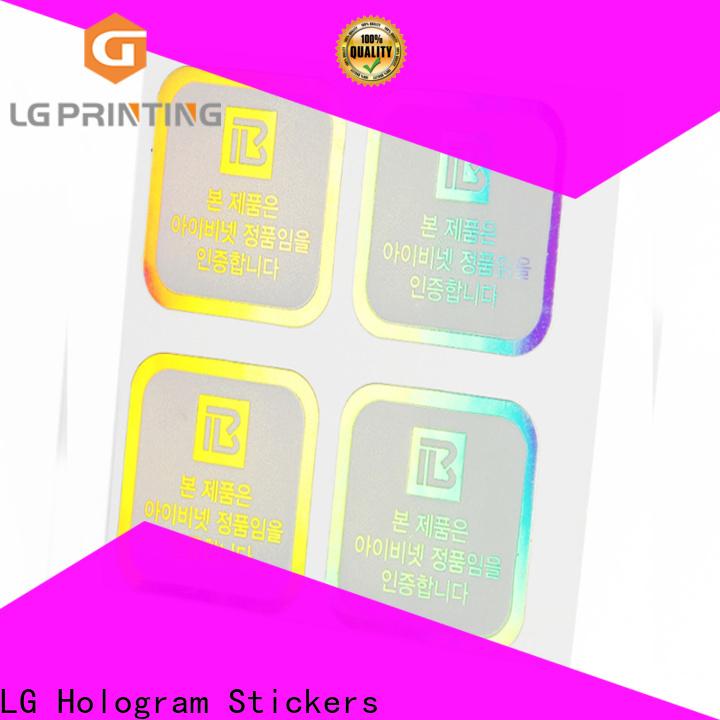 LG Printing holographic label printing Supply